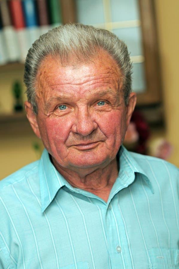 anziano del ritratto dell'uomo fotografia stock