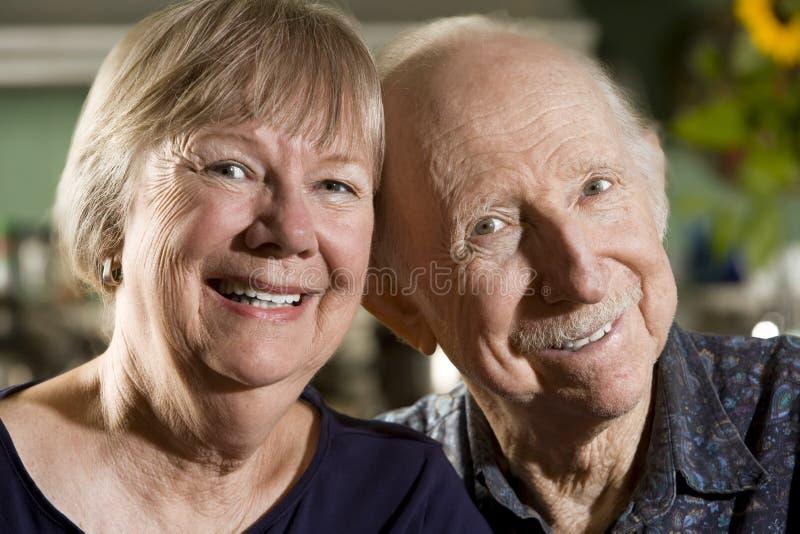 anziano del ritratto delle coppie fotografie stock libere da diritti
