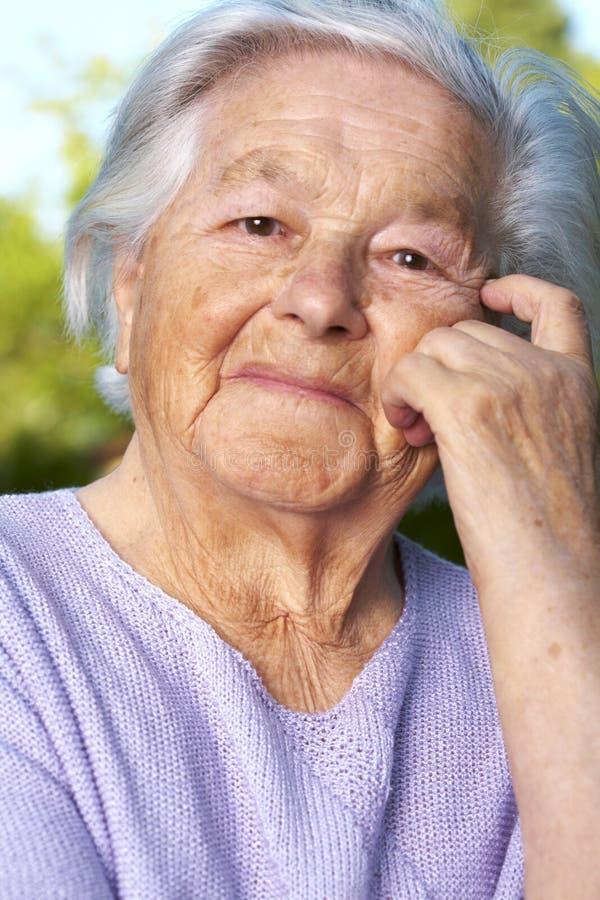 anziano della signora immagini stock