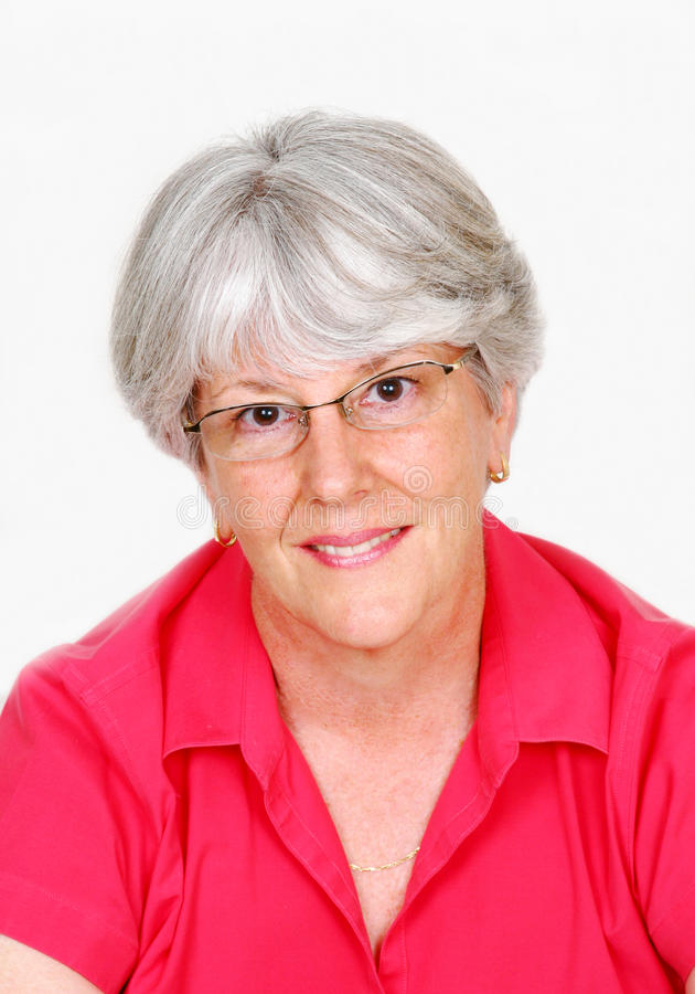 Anziano femminile attraente immagini stock libere da diritti