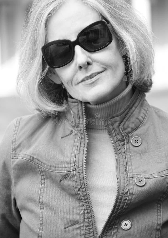 Anziano femminile maturo fotografia stock libera da diritti
