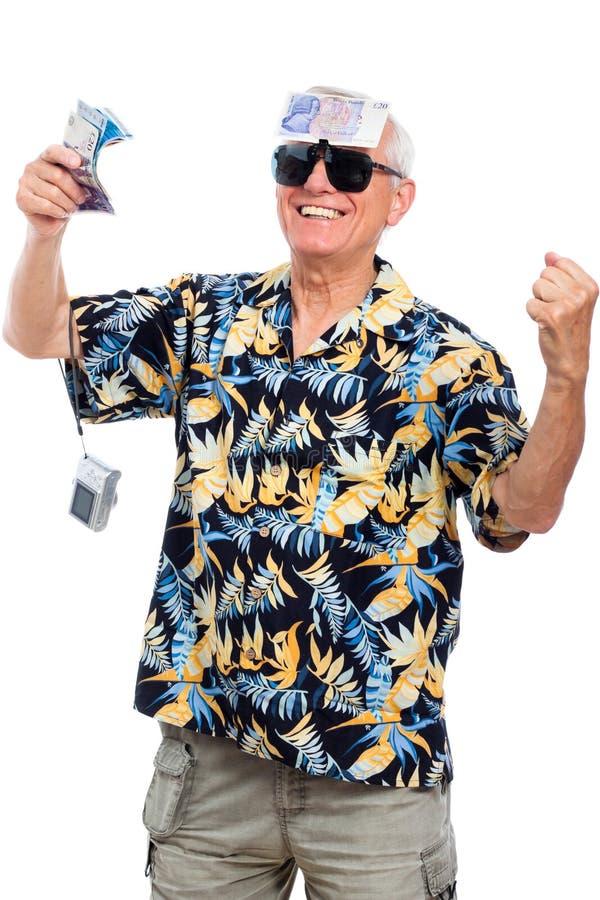 Anziano ricco felice fotografia stock libera da diritti