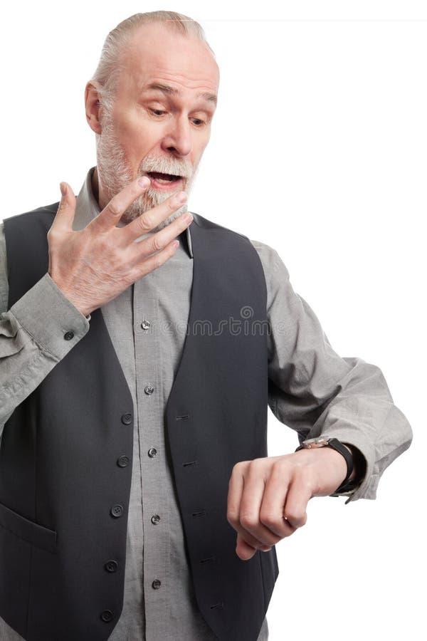 Anziano senza tempo fotografia stock libera da diritti