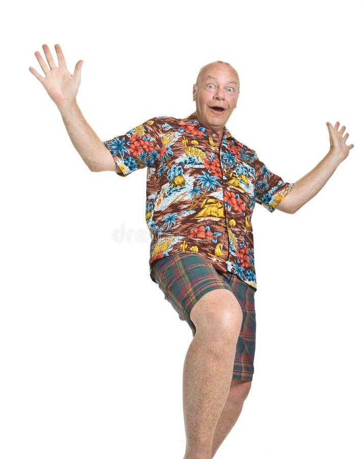 Anziano in vacanza immagini stock libere da diritti