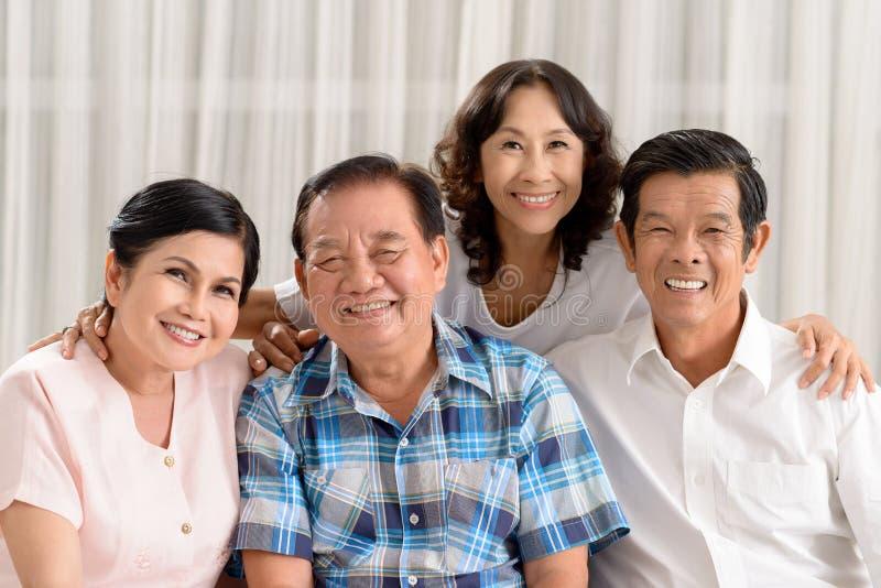 Anziano vietnamita felice fotografia stock