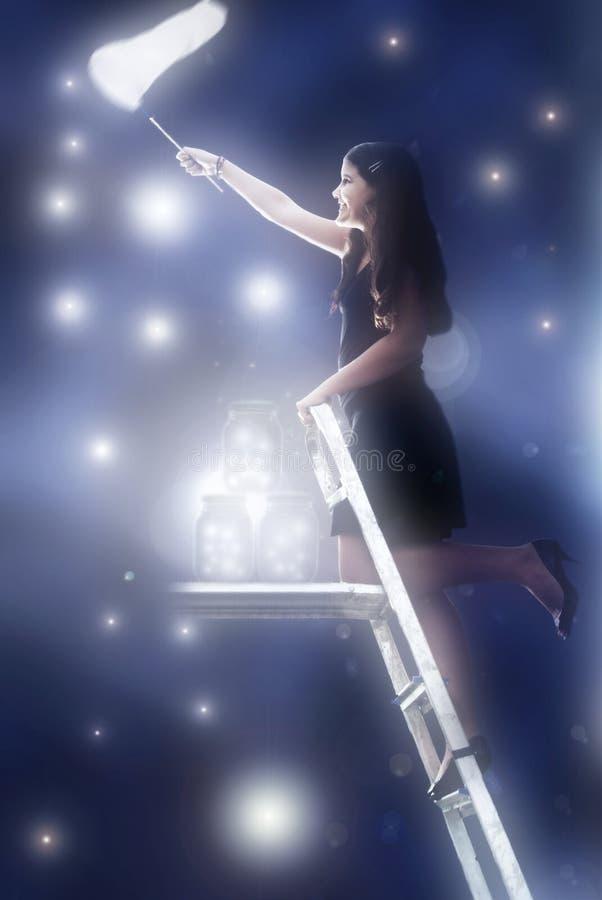 Anziehende Sterne stockbild