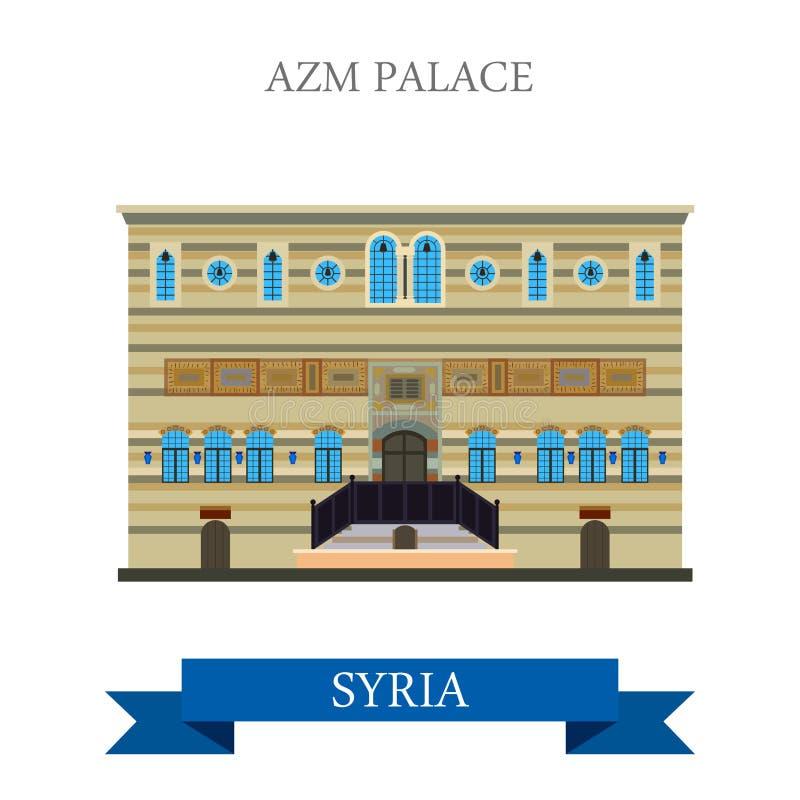 Download Anziehungskraftreise Vektors Azm Palast Damaskus Syrien Flache  Vektor Abbildung   Bild: 69347858