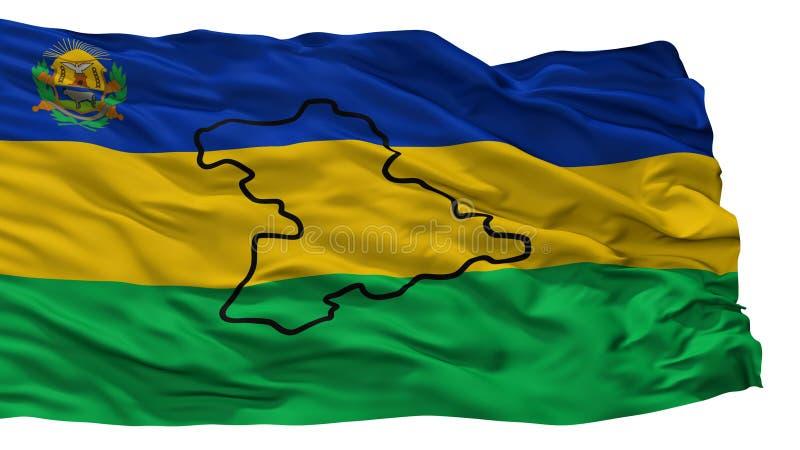 Anzoategui State City Flag, Venezuela, Isolated On White Background vector illustration