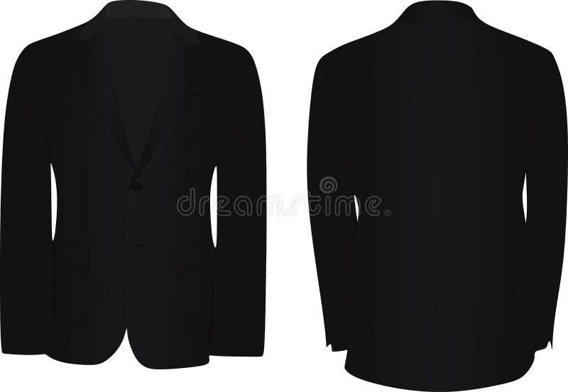 Anzug des schwarzen Mannes vektor abbildung
