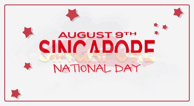 9 août fond de célébration de Jour de la Déclaration d'Indépendance du ` s de Singapour Écran protecteur illustration libre de droits