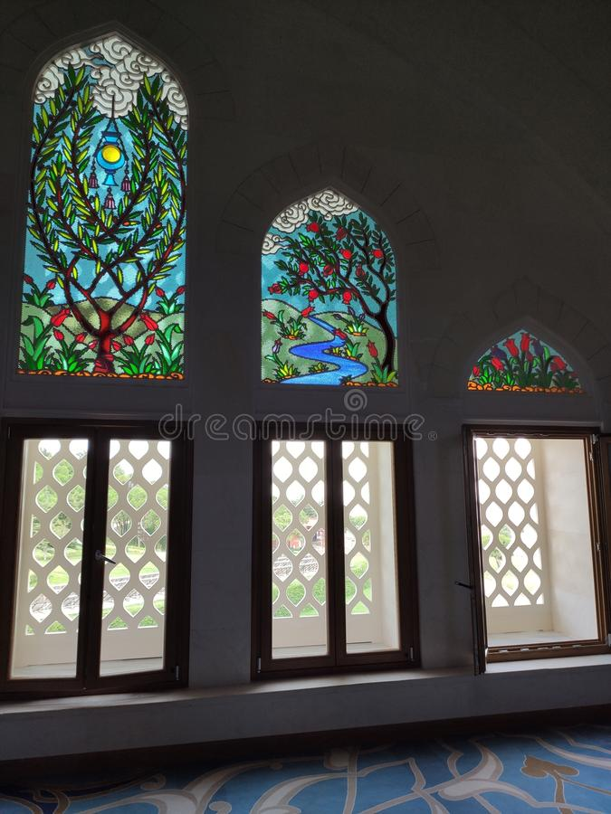4 août 19 vue de cour de MOSQUÉE de CAMLICA à Istanbul, Turquie r image stock