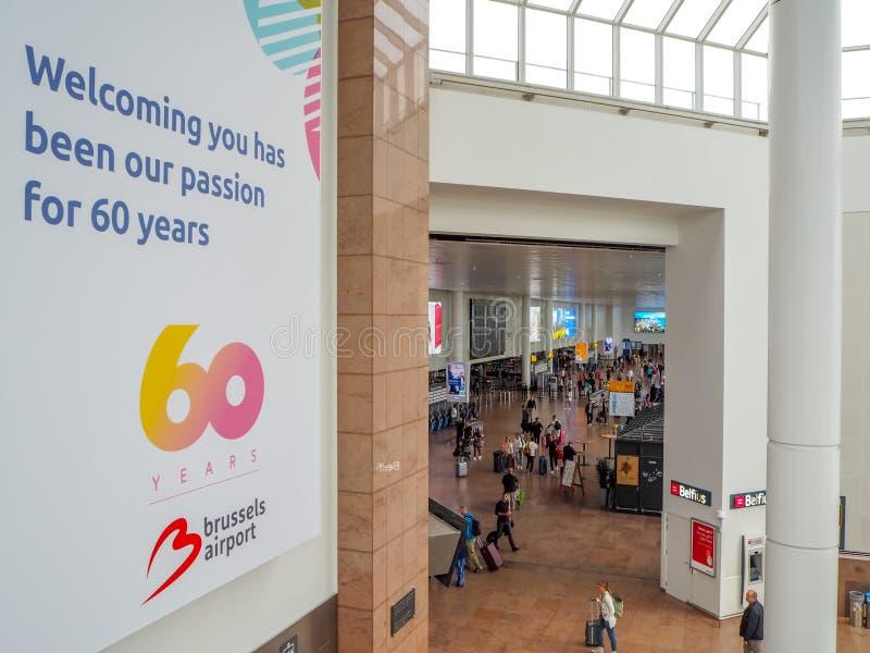 Août 2018 - Zaventem, Belgique : Grande bannière célébrant les 60 images libres de droits