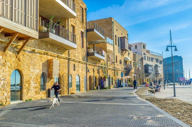 Ao lado do porto de Jaffa imagem de stock royalty free