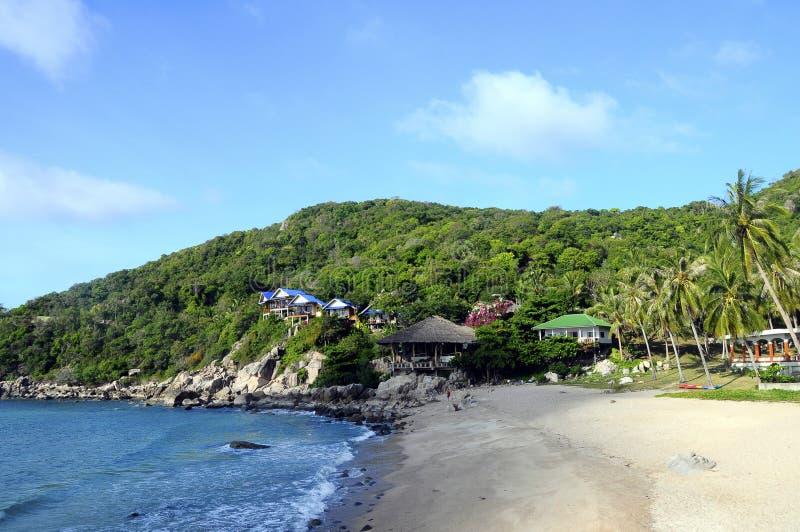Ao Leuk beach, in Koh Tao island, Thailand. Ao Leuk sandy beach, in Koh Tao island, Thailand stock photo