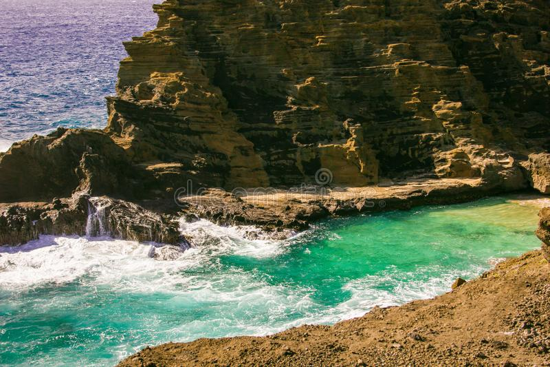 Ao longo da costa de Oahu foto de stock royalty free