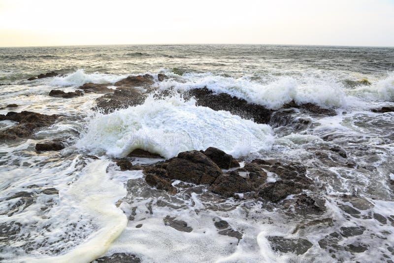 Ao longo da costa de Oregon: Poço do ` s do Thor fotografia de stock royalty free