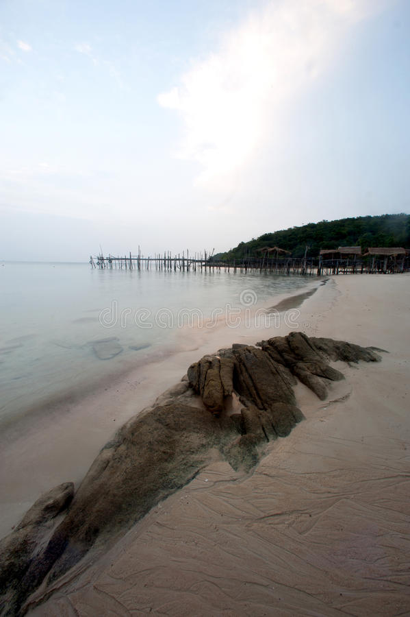 Ao Lungdam beach at samet island in Thailand. Ao Lungdam beach on Ko Samet is one of the Eastern Seaboard Islands of Thailand. It is in the Gulf of Thailand off stock image