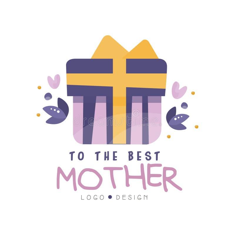 Ao melhor projeto do logotipo da mãe, etiqueta criativa do dia feliz das mamãs para a bandeira, cartaz, cartão, camisa, mão tirad ilustração do vetor