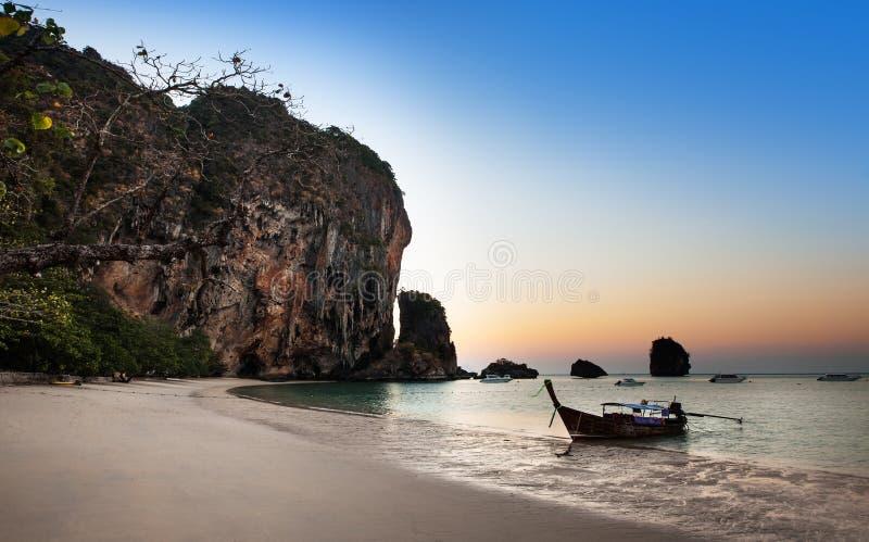 Ao nang海滩, Railay, Krabi,最佳的海滩在泰国 库存照片