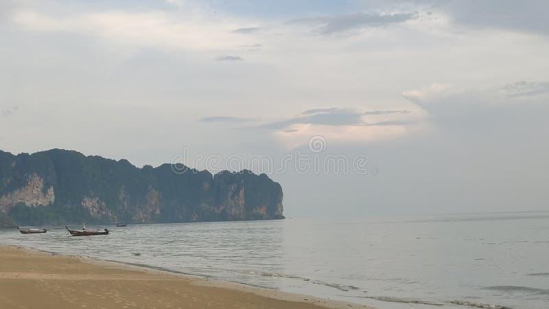 Ao nang beach in krabi thailand. Landscpae stock photo