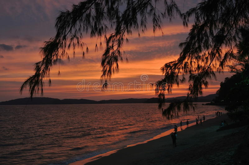 Ao Nang plaża w Tajlandia zdjęcia stock