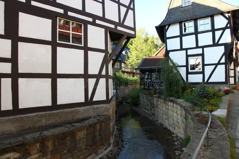 Ao norte das montanhas de Harz, no meio da natureza idílico foto de stock