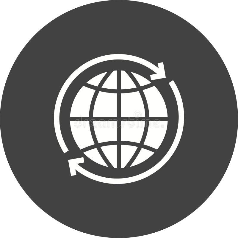 Ao redor do mundo conexão ilustração stock