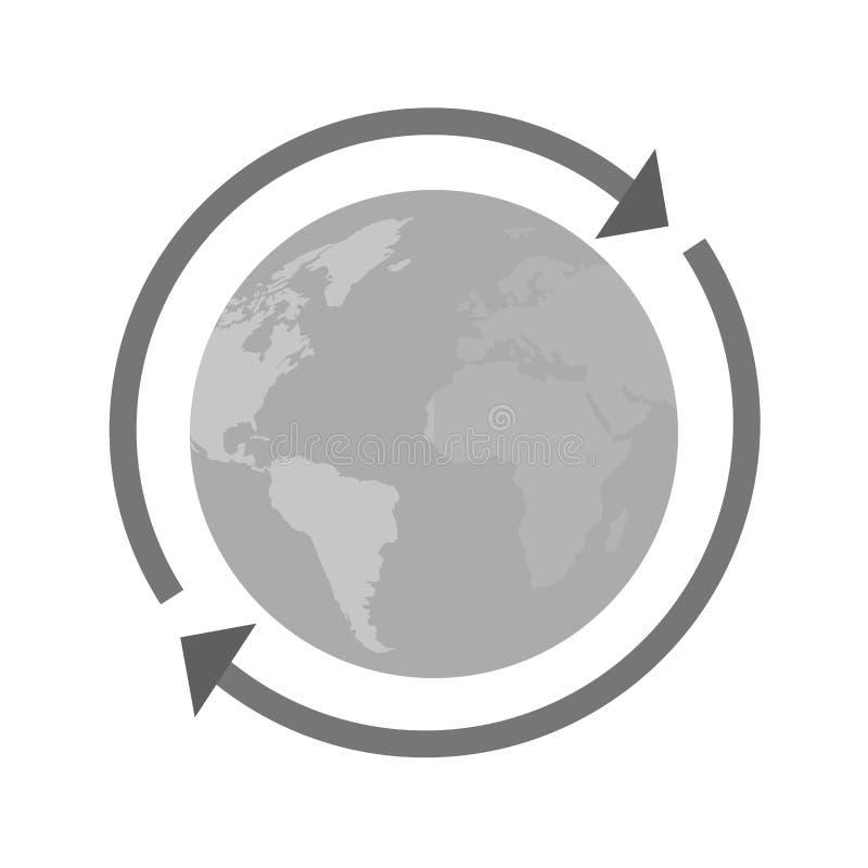 Ao redor do mundo conexão ilustração royalty free