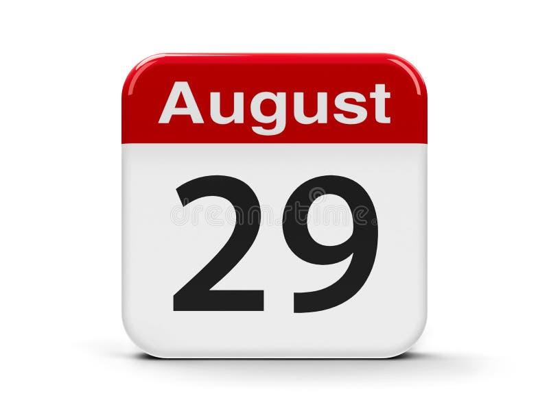 29 août illustration de vecteur