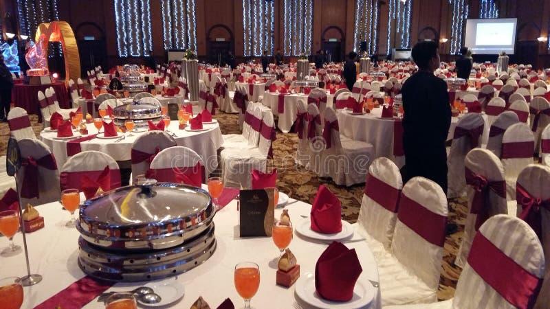 7 août 2016, Kuala Lumpur, Malaisie Une fonction de dîner de mariage de banquet photo stock