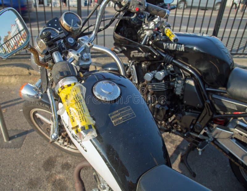 Août 2017, Southend sur la mer, motos a publié avec des P.-V.s invariable image libre de droits