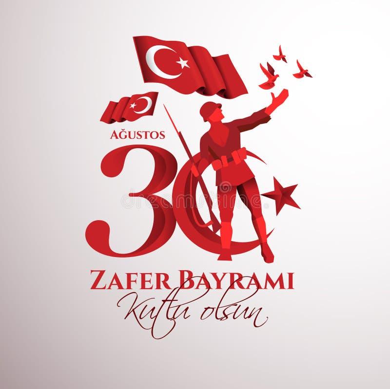 30 août Zafer Bayrami illustration de vecteur