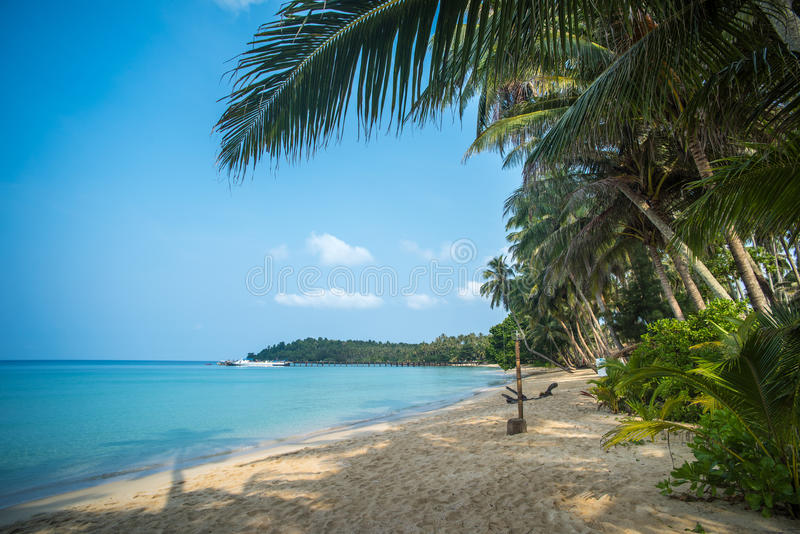 Ao Tapao热带海滩, Ko库特海岛,泰国 免版税库存照片
