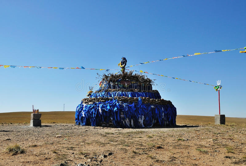 Aobao in Inner Mongolia stock photos