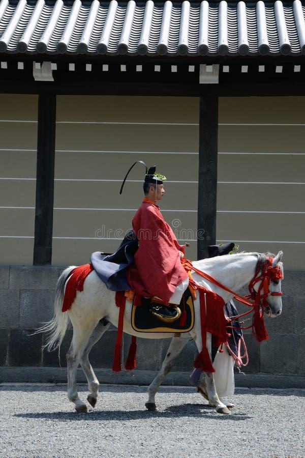 aoi festiwalu hollyhock matsuri zdjęcie royalty free