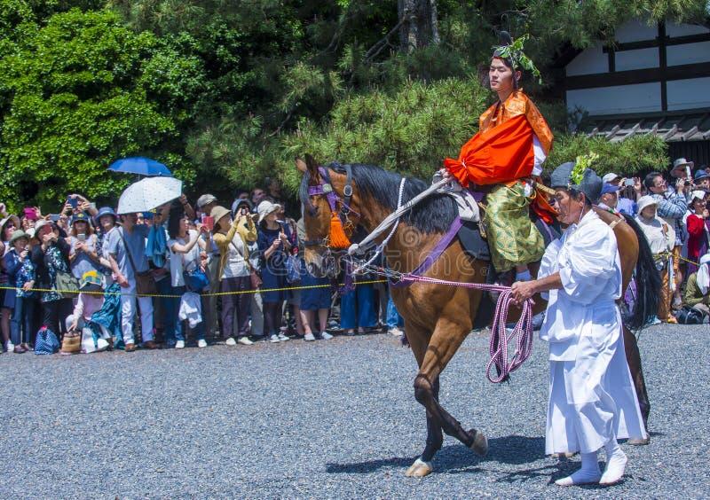 Aoi Matsuri en Kyoto Japón foto de archivo
