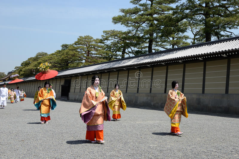 Aoi Matsuri (festival del Hollyhock) fotos de archivo libres de regalías