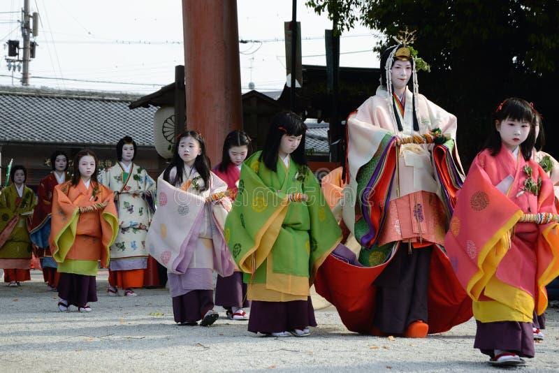Aoi Matsuri (festival del Hollyhock) fotos de archivo