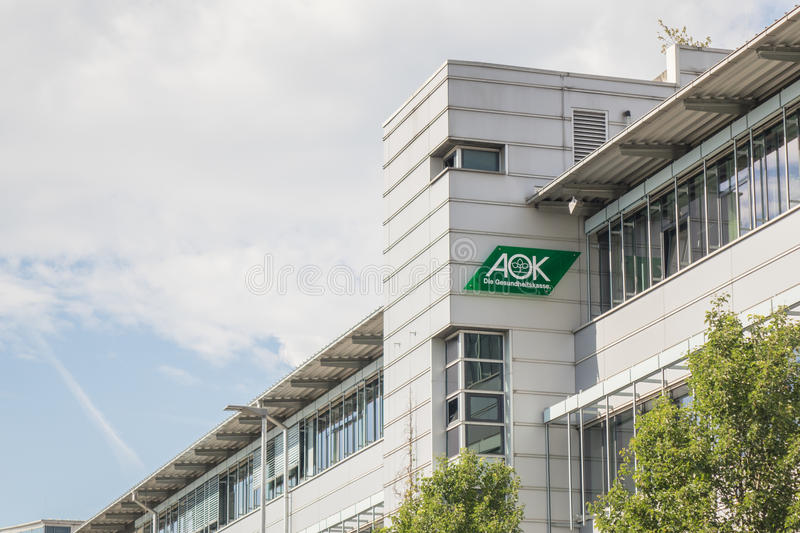 AOK building. Building of the german health insurance AOK with copy space to the left royalty free stock image