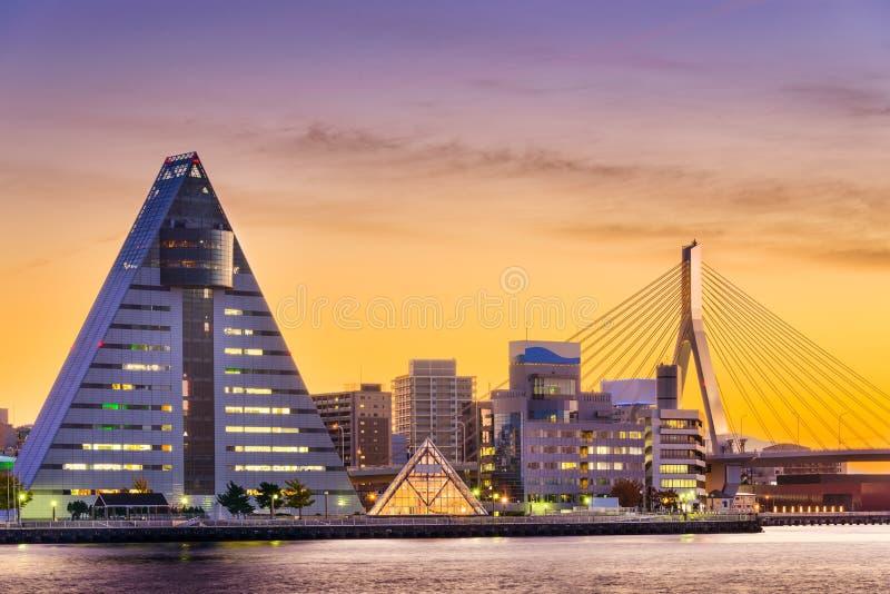 Aomori, horizonte de la ciudad de Japón fotografía de archivo libre de regalías