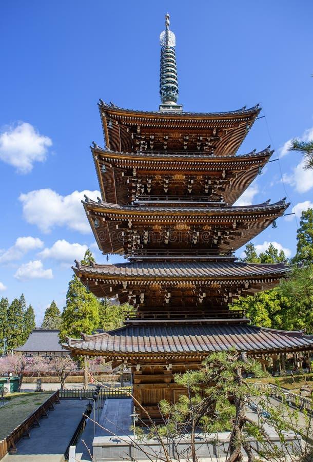 Aomori, Japon, temple de Seiryu étage de cinq pagodas image stock
