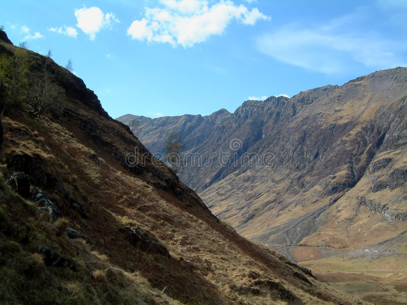 Aonach Eagach. From the lost valley, Glencoe, Scotland stock images