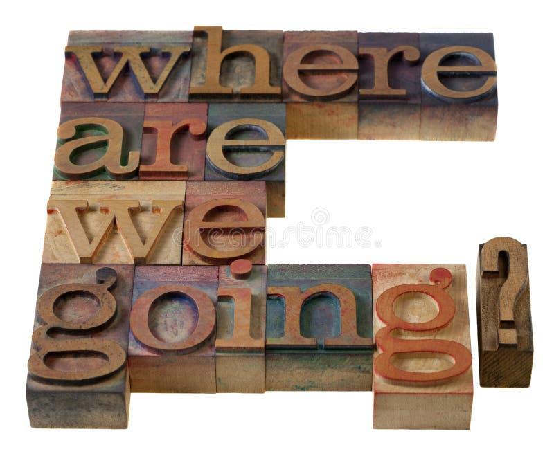 Aonde nós estamos indo? imagem de stock royalty free