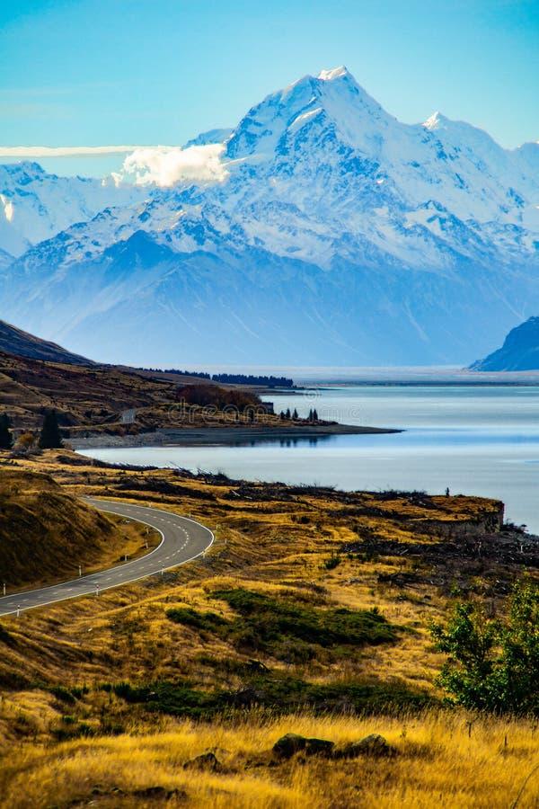 Aoraki/национальный парк кашевара держателя, Новая Зеландия стоковое фото