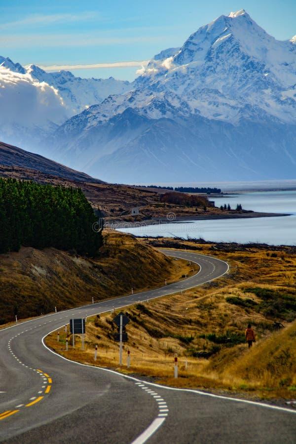 Aoraki/национальный парк кашевара держателя, Новая Зеландия стоковое фото rf