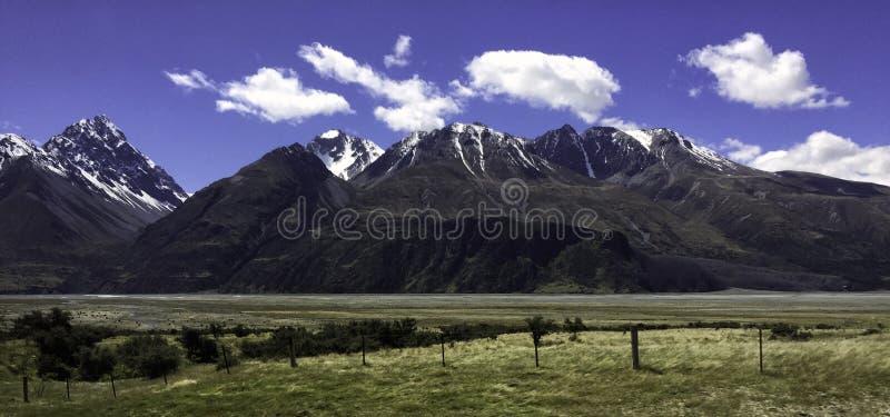 Aoraki monteringskock National Park Nya Zeeland royaltyfria bilder