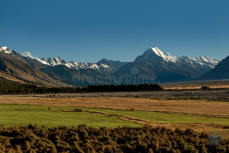 Aoraki/Mount Cook National Park South Island of New Zealand royalty free stock images