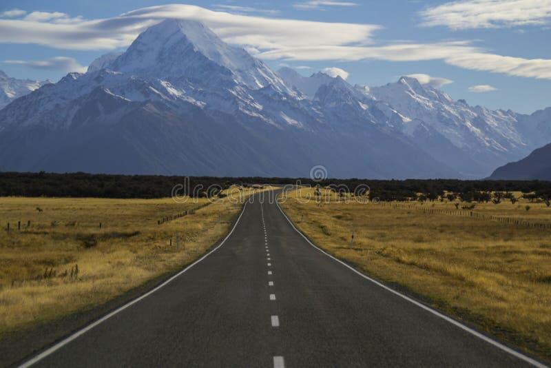 Aoraki/zet Cook, Nieuw Zeeland op stock foto's