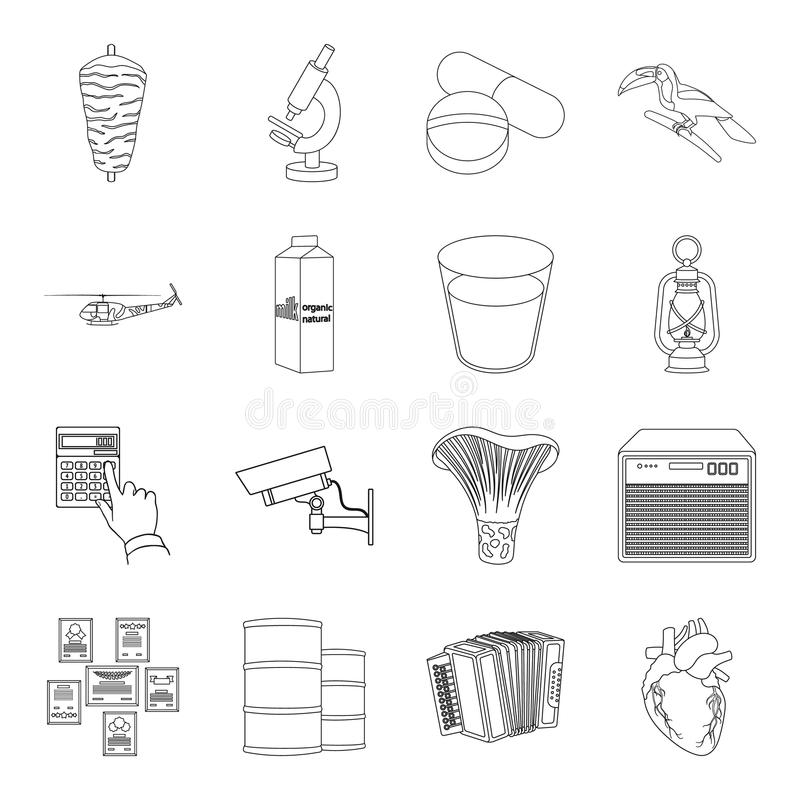 Aorta, army, art and other web icon in outline style.food, education, animal icons in set collection. vector illustration