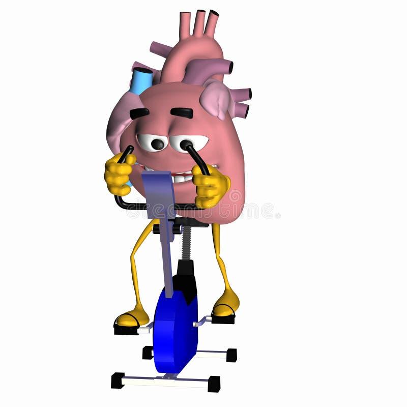 Aorte souriante - exercez votre coeur illustration de vecteur